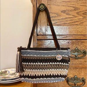 The Sak Striped Crochet Shoulder Bag